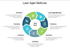 Lean Agile Methods Ppt PowerPoint Presentation Layouts Show Cpb
