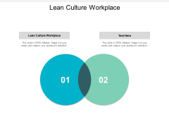 Lean Culture Workplace Ppt PowerPoint Presentation Show Skills Cpb