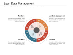 Lean Data Management Ppt PowerPoint Presentation Ideas Deck Cpb Pdf