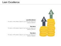 Lean Excellence Ppt PowerPoint Presentation Icon Diagrams Cpb