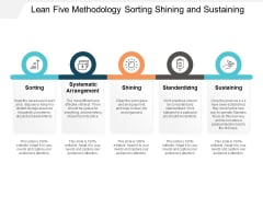 Lean Five Methodology Sorting Shining And Sustaining Ppt PowerPoint Presentation Pictures Layouts