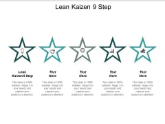 Lean Kaizen 9 Step Ppt Powerpoint Presentation Portfolio Rules Cpb