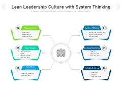 Lean Leadership Culture With System Thinking Ppt PowerPoint Presentation File Background Images PDF