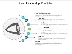 Lean Leadership Principles Ppt PowerPoint Presentation Show Cpb