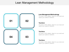 Lean Management Methodology Ppt PowerPoint Presentation Outline Themes Cpb