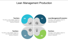 Lean Management Production Ppt PowerPoint Presentation Styles Slides Cpb