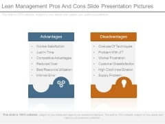 Lean Management Pros And Cons Slide Presentation Pictures