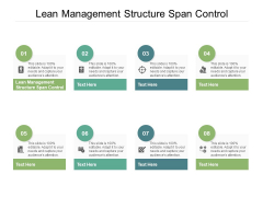 Lean Management Structure Span Control Ppt PowerPoint Presentation Icon Outline Cpb