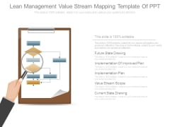 Lean Management Value Stream Mapping Template Of Ppt