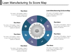 Lean Manufacturing 5S Score Map Ppt PowerPoint Presentation Professional Examples