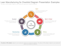 Lean Manufacturing 5s Checklist Diagram Presentation Examples