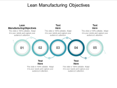 Lean Manufacturing Objectives Ppt PowerPoint Presentation Slides Graphic Tips Cpb