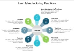 Lean Manufacturing Practices Ppt PowerPoint Presentation Icon Cpb