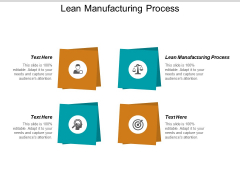 Lean Manufacturing Process Ppt PowerPoint Presentation Information Cpb