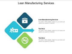 Lean Manufacturing Services Ppt PowerPoint Presentation Professional Guidelines Cpb