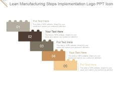 Lean Manufacturing Steps Implementation Lego Ppt PowerPoint Presentation Themes