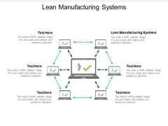 Lean Manufacturing Systems Ppt PowerPoint Presentation Layouts Diagrams Cpb