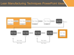 Lean Manufacturing Techniques Powerpoint Ideas