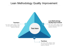 Lean Methodology Quality Improvement Ppt PowerPoint Presentation Model Background Designs Cpb