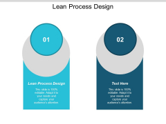 Lean Process Design Ppt Powerpoint Presentation Pictures Themes Cpb