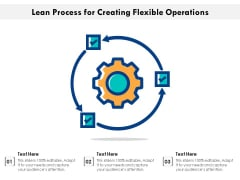 Lean Process For Creating Flexible Operations Ppt PowerPoint Presentation Icon Slideshow PDF