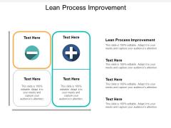 Lean Process Improvement Ppt PowerPoint Presentation Inspiration Portrait Cpb