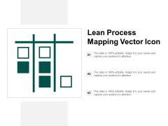 Lean Process Mapping Vector Icon Ppt PowerPoint Presentation Outline Rules