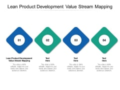 Lean Product Development Value Stream Mapping Ppt PowerPoint Presentation Layouts Deck Cpb