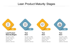 Lean Product Maturity Stages Ppt PowerPoint Presentation Styles Objects Cpb