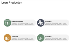 Lean Production Ppt PowerPoint Presentation Infographics Demonstration Cpb
