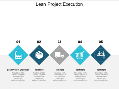 Lean Project Execution Ppt PowerPoint Presentation Professional Brochure Cpb