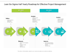 Lean Six Sigma Half Yearly Roadmap For Effective Project Management Icons