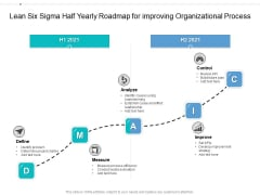 Lean Six Sigma Half Yearly Roadmap For Improving Organizational Process Professional