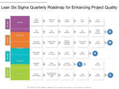 Lean Six Sigma Quarterly Roadmap For Enhancing Project Quality Microsoft