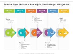 Lean Six Sigma Six Months Roadmap For Effective Project Management Diagrams