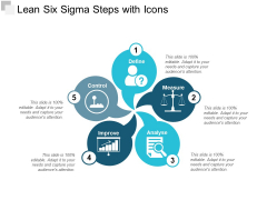 Lean Six Sigma Steps With Icons Ppt PowerPoint Presentation Outline Graphics Pictures