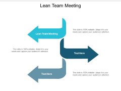 Lean Team Meeting Ppt PowerPoint Presentation Infographic Template Brochure Cpb