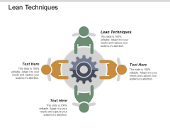 Lean Techniques Ppt PowerPoint Presentation Infographic Template Tips Cpb