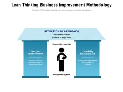 Lean Thinking Business Improvement Methodology Ppt PowerPoint Presentation Show Example File