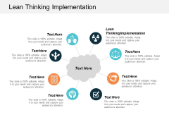 Lean Thinking Implementation Ppt PowerPoint Presentation Model Professional Cpb