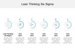 Lean Thinking Six Sigma Ppt PowerPoint Presentation Slide Cpb