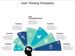 Lean Thinking Workplace Ppt PowerPoint Presentation Inspiration Information Cpb