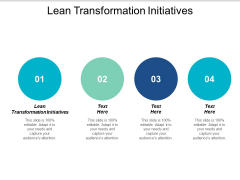 Lean Transformation Initiatives Ppt PowerPoint Presentation Infographic Template Vector Cpb
