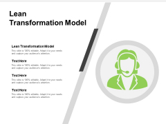 Lean Transformation Model Ppt PowerPoint Presentation Professional Good Cpb