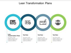 Lean Transformation Plans Ppt PowerPoint Presentation Slides Good Cpb