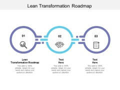 Lean Transformation Roadmap Ppt PowerPoint Presentation File Show Cpb