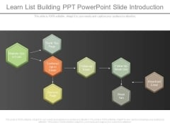 Learn List Building Ppt Powerpoint Slide Introduction