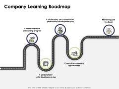 Learning And Development Roadmap For Every Employee Company Learning Roadmap Ppt PowerPoint Presentation Ideas Guidelines PDF