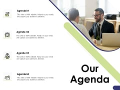 Learning And Development Roadmap For Every Employee Our Agenda Ppt PowerPoint Presentation Gallery Designs Download PDF