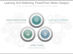 Learning And Reflecting Powerpoint Slides Designs